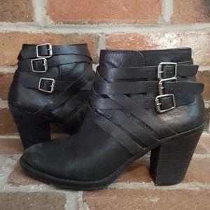 Black lucky brand booties